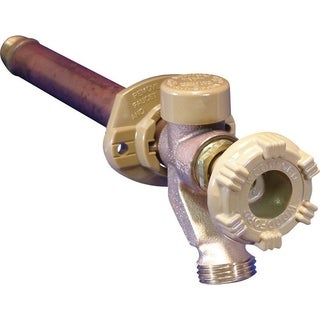 Woodford Model 17 1/2 in. MIP Dia. x 1/2 in. Dia. Sweat Brass 10 in. Wall Hydrant