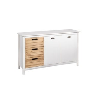 Mid-Century Modern-Rustic 3-Drawer Irving 51.18 Inch Dresser Cabinet