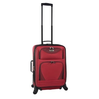 "Travelers Club Sky-view Collection 20"" Expandable Spinner Suitcase"