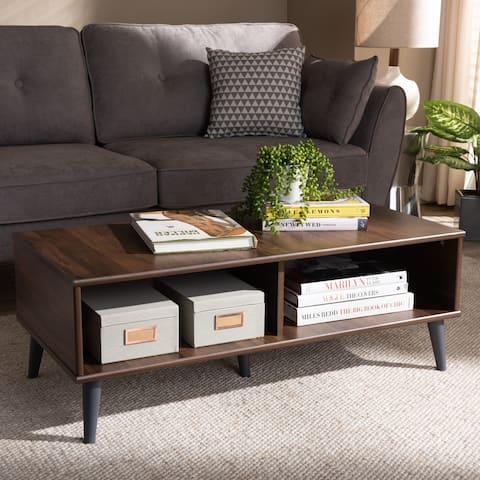 Mid-Century Modern Brown Coffee Table by Baxton Studio