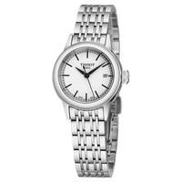 Tissot Women's T085.210.11.011.00 'Lady Carson' White Dial Stainless Steel Swiss Quartz Watch