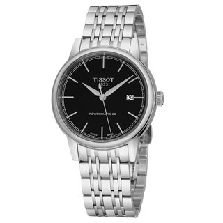 Tissot Men's T085.407.11.051.00 'Carson' Black Dial Stainless Steel Swiss Powermatic Watch