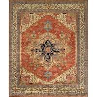 Pasargad Handmade Serapi Collection Rust Wool Rug - 10' x 10'1