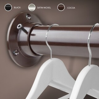 "InStyleDesign 1.5"" Premium Heavy Duty Adjustable Closet Rod and Socket Set"