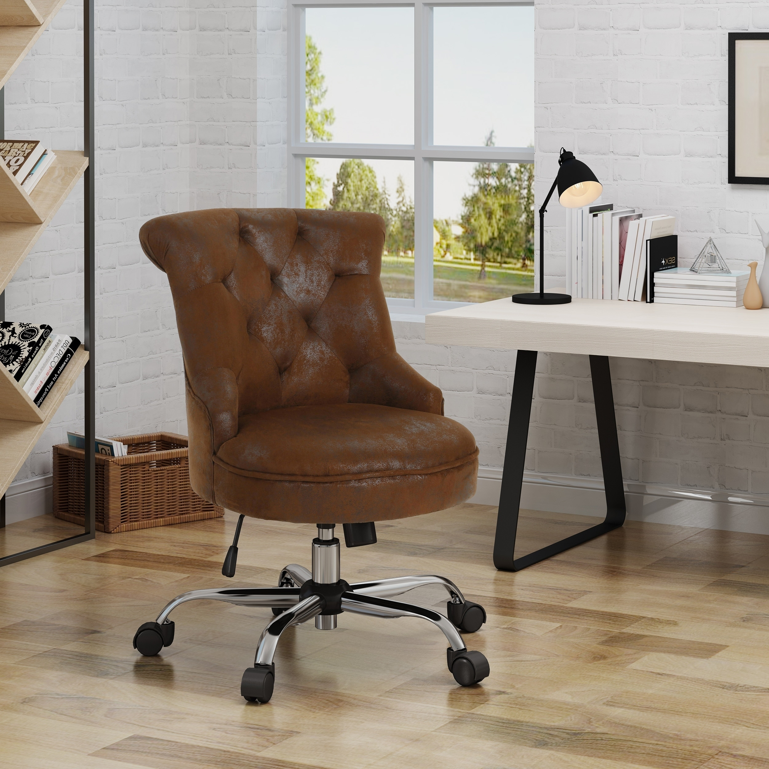 Shop Auden Home Office Desk Chair By Christopher Knight Home On Sale Overstock 21546424 Slate Chrome