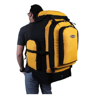 Transworld 4800 Cubic Inch Hiking Backpack (Option: Black Yellow)