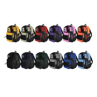 Transworld Student School 16-inch Backpack (Option: Black Silver)