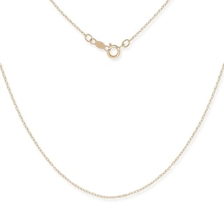 Link to Curata 14k Gold Women's Carded Rope Chain Necklace Similar Items in Necklaces