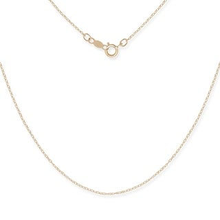 Curata 14k Gold Women's 16-22 Inch Carded Rope Chain Necklace (yellow or white)
