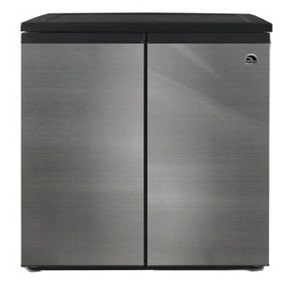 IGLOO FR551 5.5 Cubic Feet Side by Side 2 Door Refrigerator Freezer, Stainless Steel