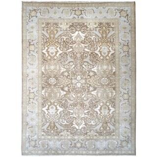 Wool and Silk Tabriz Rug - 8'10'' x 11'10''