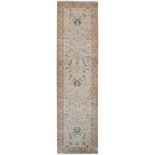 Wool Tabriz Rug (4' x 21'9'') - 4' x 21'9''
