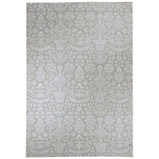 Wool and Silk Nepal Rug (6'0'' x 8'11'') - 6'0'' x 8'11''