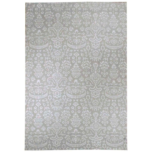 Shop Wool And Silk Nepal Rug (6'0'' X 8'11'')