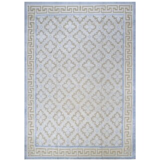 Pure Silk Embossed Rug (8'7'' x 12'5'') - 8'7'' x 12'5''