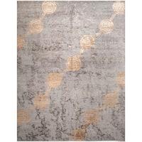 Wool and Silk Tabriz Rug (8' x 10'1'') - 8' x 10'1''