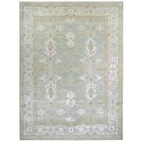Wool and Silk Tabriz Rug - 8'9'' x 12'4''