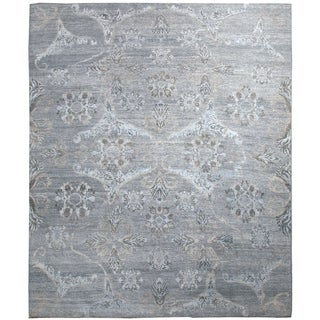 Transitional Silver Rug (7'10'' x 10'10'') - 7'10'' x 10'10''
