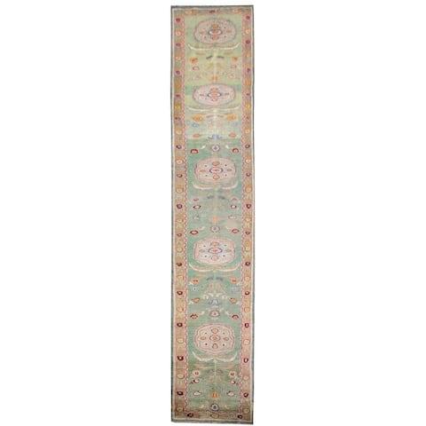 Wool Oushak Rug (2'9'' x 19') - 2'9'' x 19'