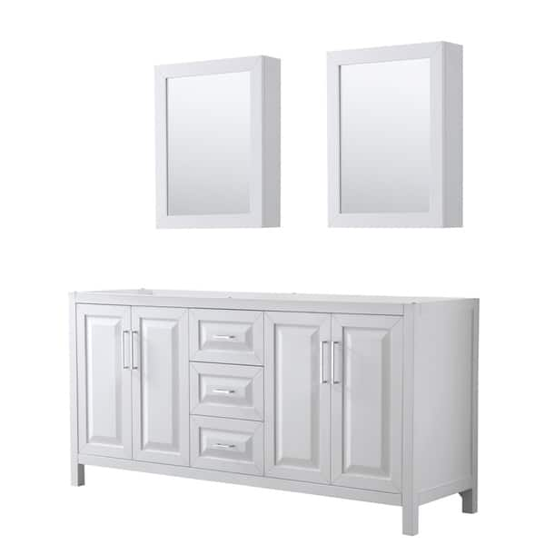 Groovy Shop Daria 72 Inch Double Vanity In White No Top Medicine Home Remodeling Inspirations Cosmcuboardxyz