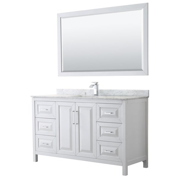 Daria 60-inch Single Vanity, Marble Top, 58-inch Mirror. Opens flyout.