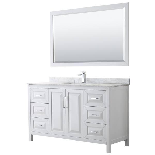 Daria 60 Inch Single Vanity Marble Top 58 Inch Mirror Overstock 21549162