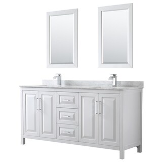Link to Daria 72-inch Double Vanity, Marble Top, 24-inch Mirrors Similar Items in Bath