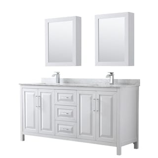 Link to Daria 72-inch Double Vanity, Marble Top, Medicine Cabinets Similar Items in Bath