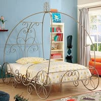 Princess Full Size Bed In Metallic frame, Champagne Gold