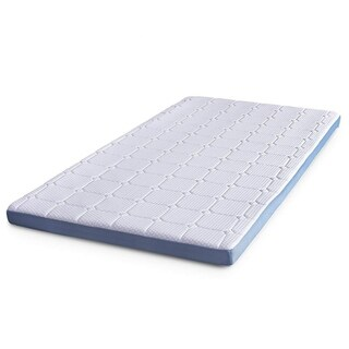 "Cr 3-inch Memory Foam Mattress Topper with Ultra Soft Cover, Califonia King, 71.5"" x 83"""