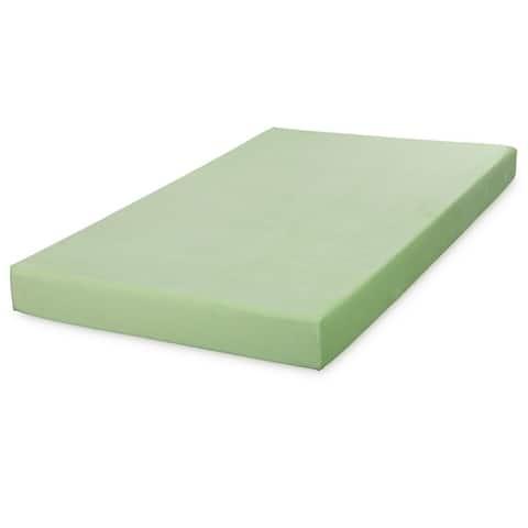 Cr Sleep 5 Inch Memory Foam Twin XL Mattress Light Green