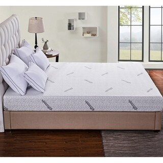 Cr Sleep 6-inch Memory Foam Mattress with Gel-infused AirCell Technology,Bamboo Cover, King