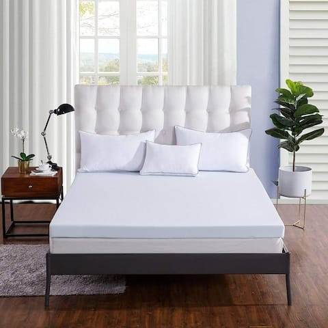 Sleep 2-inch Gel-Infused Memory Foam Mattress Topper, AirCell Technology