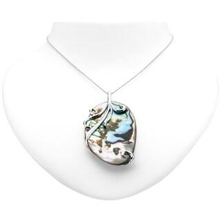 "Pangea Mines Abalone Overlay Pendant w/ 24"" Chain"