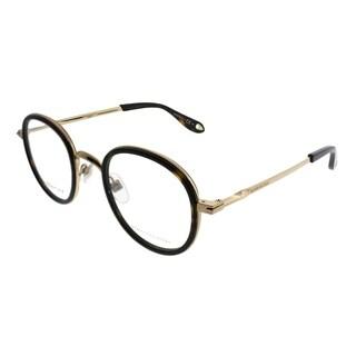 Givenchy Round GV 0044 J5G Unisex Gold Havana Frame Eyeglasses