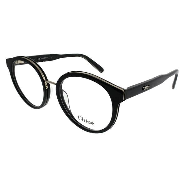 Shop Chloe Round CE 2710 001 Women Black Frame Eyeglasses - On Sale ...