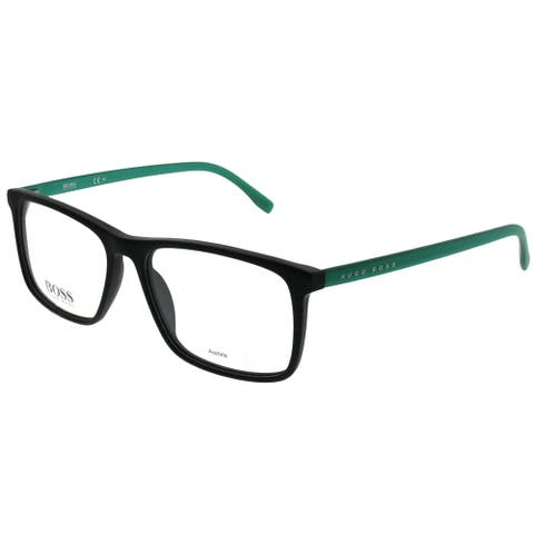 Hugo Boss Rectangle BOSS 0764 RJR Unisex Black Frame Eyeglasses