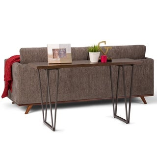 WYNDENHALL Travis Industrial Solid Wood & Metal Console Sofa Table