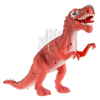 Toy Dinosaur Moving Action Figure with Lights and Sounds- Battery Operated Walking, Roaring Spinosaurus/TRex by Hey! Play!