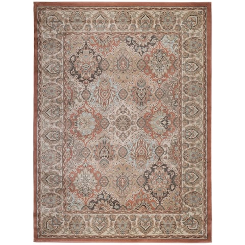 "Gallina Panel Brown Area Rug By Admire Home Living - 2'2"" x 7'7""/Surplus"