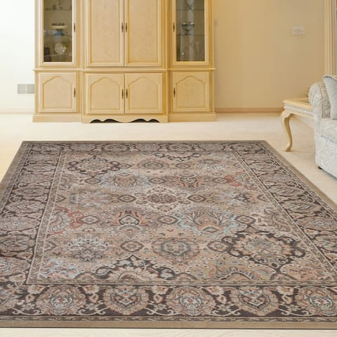 """Gallina Panel Brown Area Rug By Admire Home Living - 7'10"""" x 10'2""""/Surplus"""