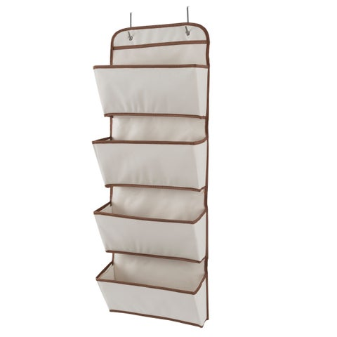 Over the Door Organizer-4 Pocket Hanging Storage Saves Space for Closet, Bedroom and more by Lavish Home