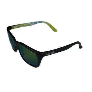 Bolle 527 Unisex Sunglasses - 12050 - Matte black Frame w/ Emerald Brown Polarized Lens - Medium