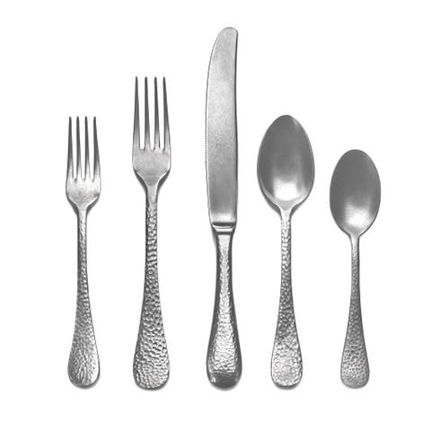 Mepra 5-piece Stainless Steel Epoque Pewter Place Setting