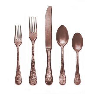 Mepra 5-piece Stainless Steel w/PVD Titanium Coating Epoque Pewter Bronzo Place Setting