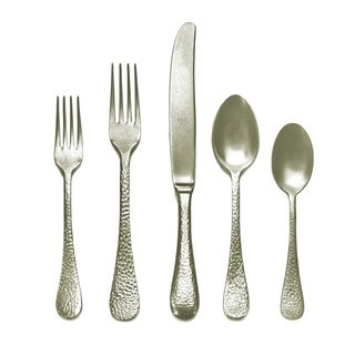 Link to Mepra 5-piece Stainless Steel w/PVD Titanium Coating Epoque Pewter Champagne Place Setting Similar Items in Flatware