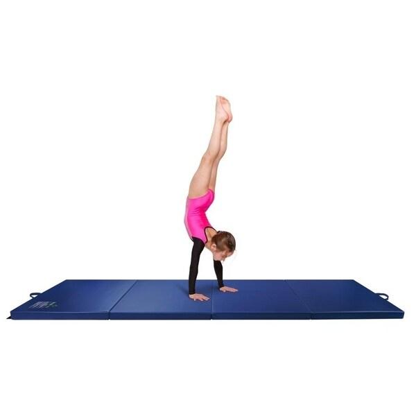 Shop Gymnastics Mat, 3' X 8' Quad Folding Tumbling Mats