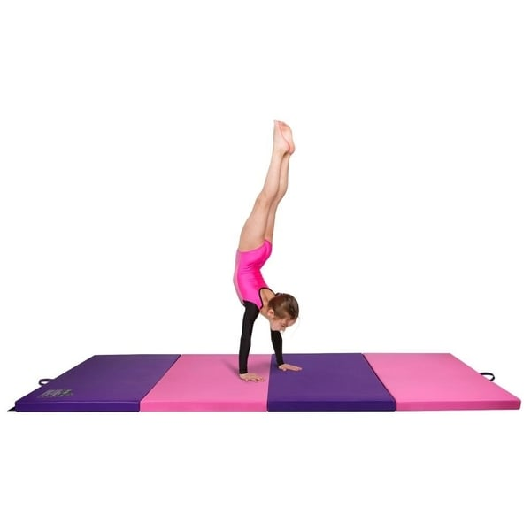 Shop Gymnastics Mat 4 X 8 Quad Folding Tumbling Mats