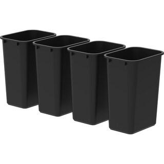 Storex Large/Tall Waste Basket, Black (4 units/pack)