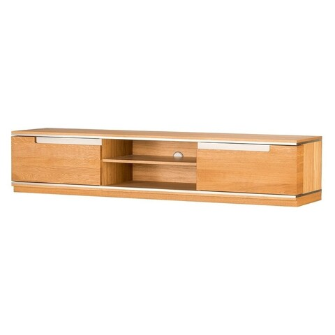 Torino Natural Oak Large Open TV Stand with Storage